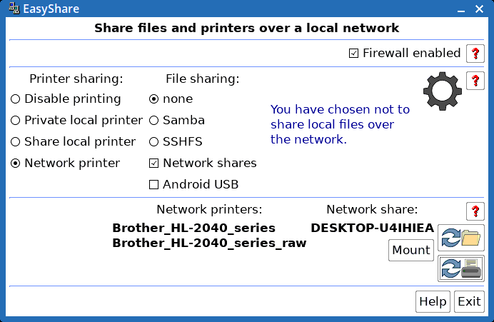 EasyShare, super easy network file and printer sharing